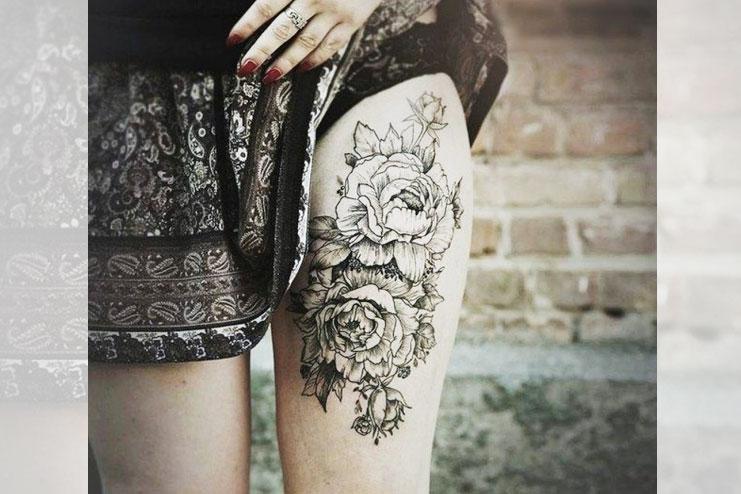 Rose Dotwork tattoo