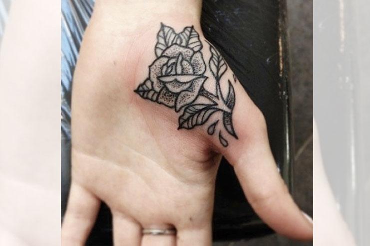 Palm Rose Tattoo
