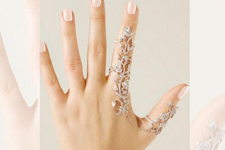 Vintage Flower Double Finger Ring