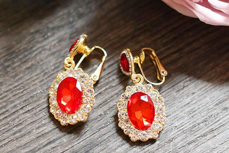 Crystal Beaded Colorful Earrings