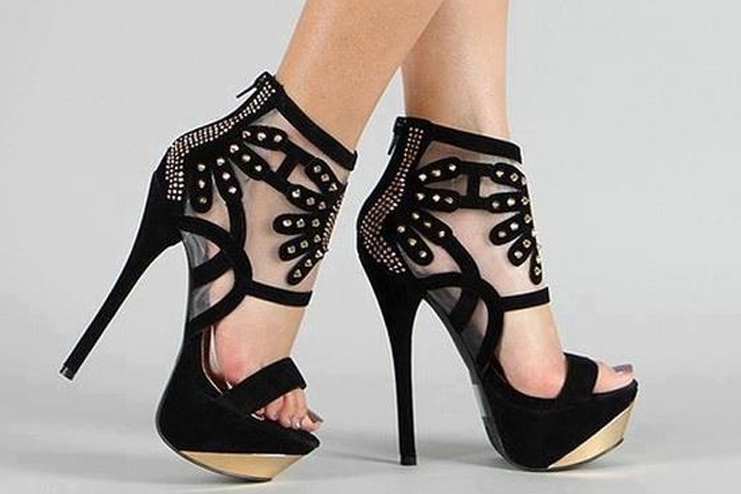Designed Black High Heel