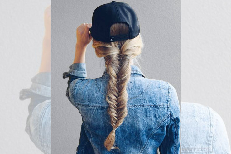 Fish-Tail Braids Hairstyle On Jeans
