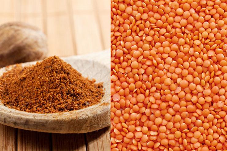 Masoor Dal And Nutmeg Scrub