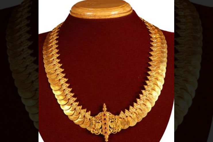 Gold Kasu Mala Bridal Jewelry