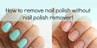 how to remove nail polish