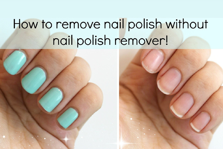 how to use pure acetone to remove acrylic nails