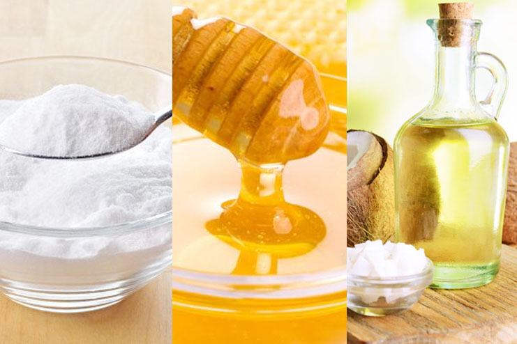 Baking Soda, Honey, Coconut Or Olive Oil