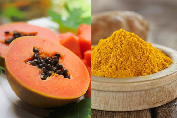 Papaya and Turmeric