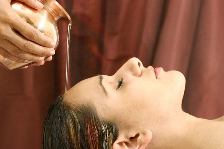 Oil massage for thicker hair