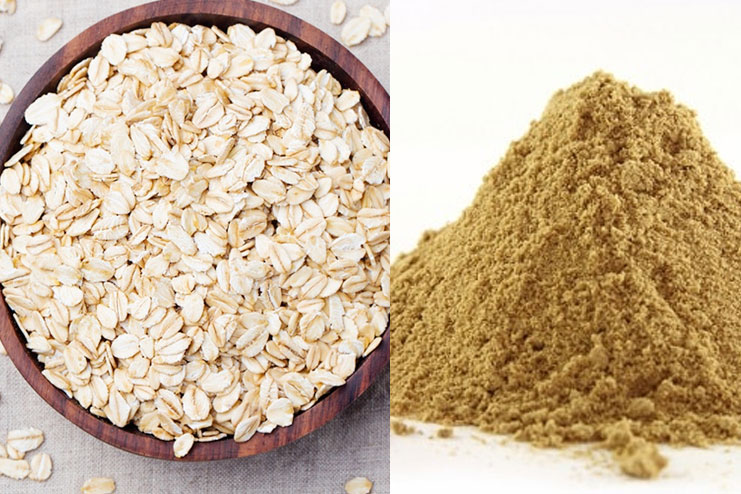 Oats And Multani Mitti Or Fullers Earth