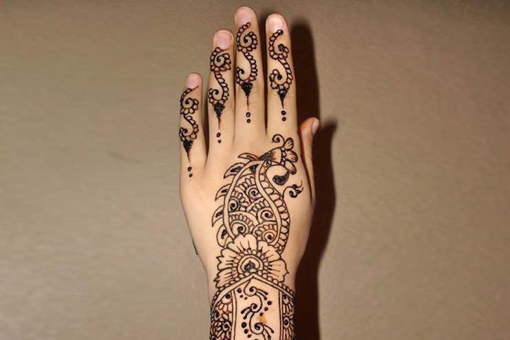 Combination Arabic Mehndi Design