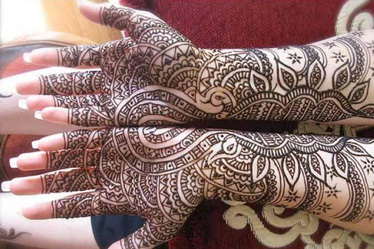 Complex Patterned Arabic Mehndi Designs
