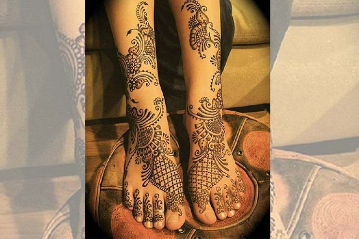 Arabic Mehndi On Feet