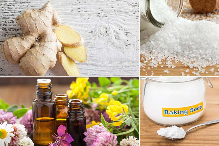 Baking Soda, Epsom Salt, Ginger Aromatherapy Oils
