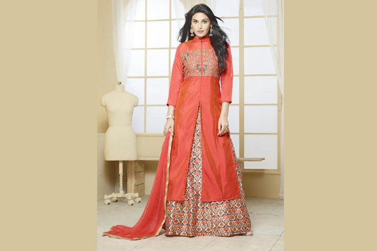 Designer Kameez With Lehenga