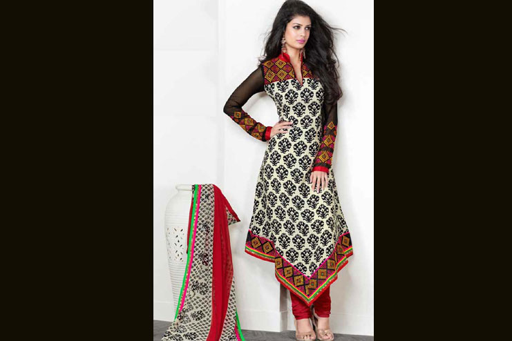 Fish Tail Churidar Salwar Suit Design
