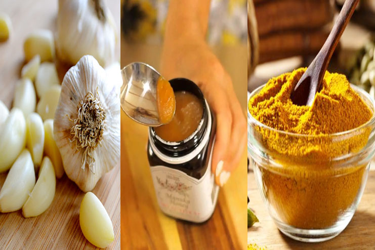 Garlic, Manuka Honey And Turmeric