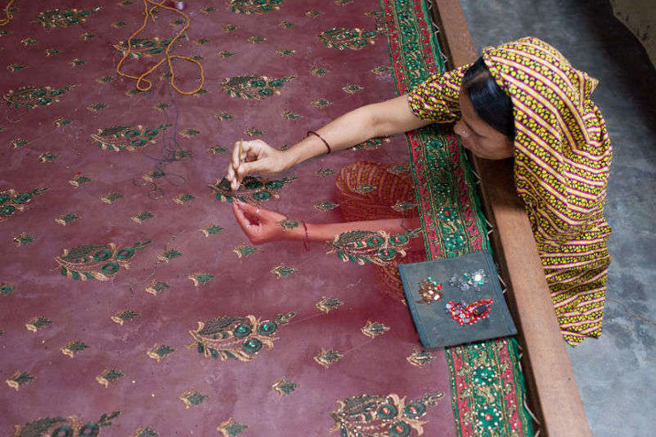 Technique Of Jamdani Saree