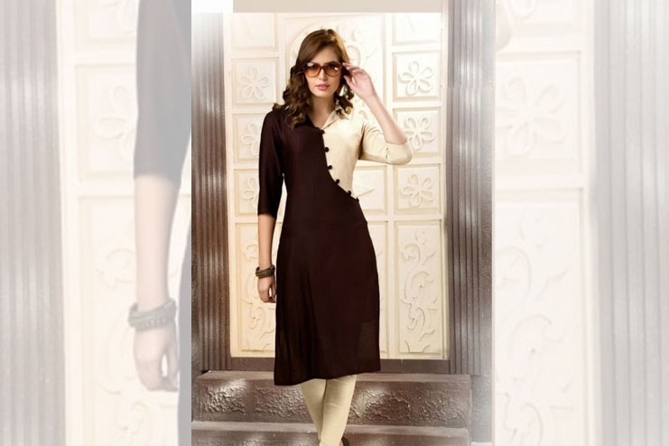 Black And White Latest Kurti Design