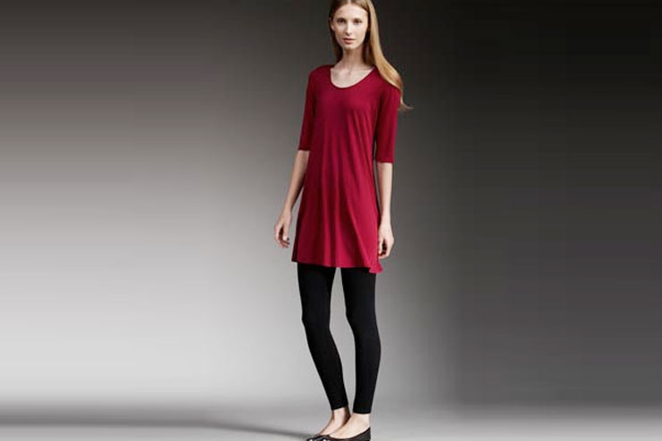 Red Tunic With Black Leggings