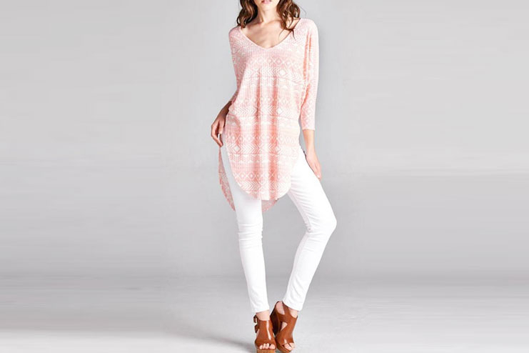 Paolin Geometic Tunic Top