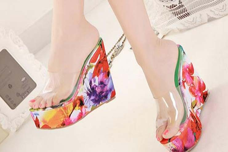 Colorful High-Heel Sandals