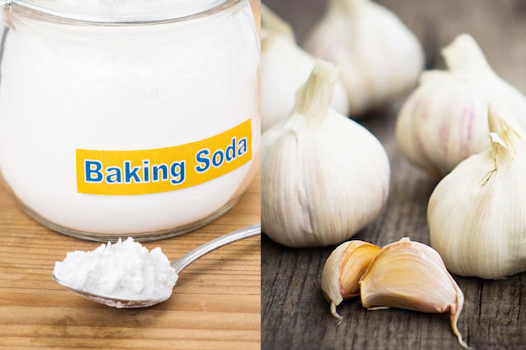 Baking Soda and Garlic Tea