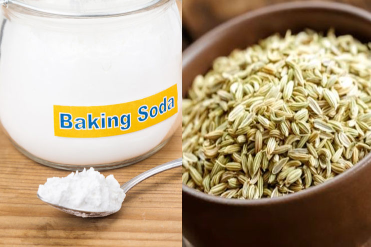 Baking Soda and Fennel Seeds Drink