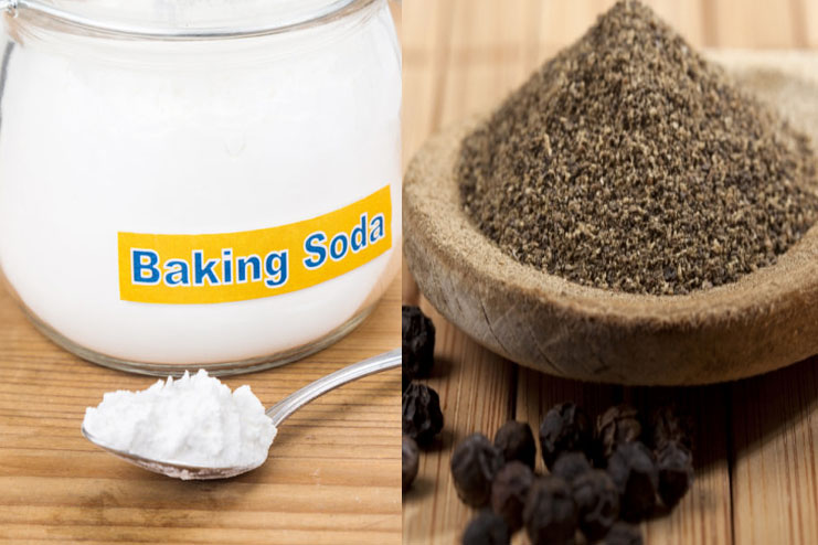 Baking Soda and Black Pepper Mix