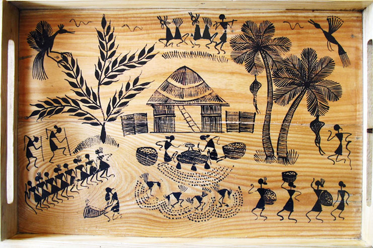 Warli painting magic of sahyadri adivasis warli painting thecheapjerseys Image collections