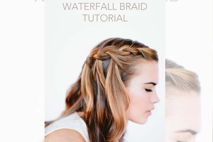 Beginners Way To Waterfall Braid