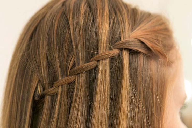 One-Sided Waterfall Braid