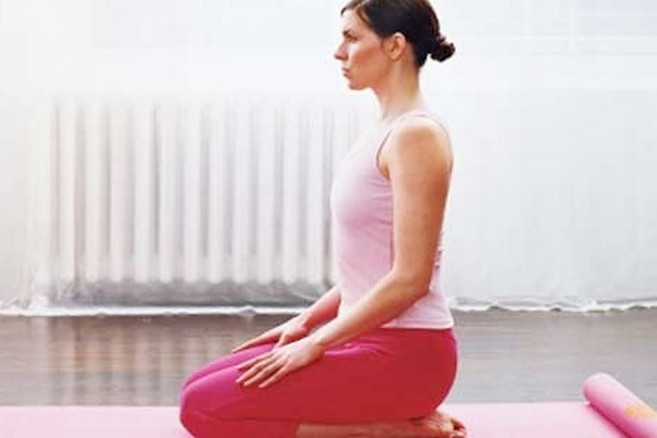 Vajrasana helps in weight loss