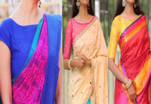 Boat Neck Blouse Designs