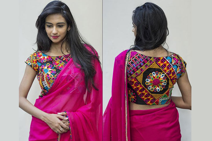 Kutch Work Multicoloured Blouse