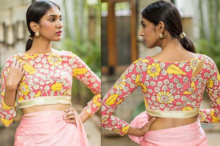 Pink & Mustard Kalamkari