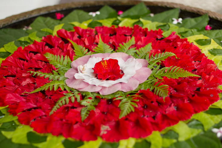 Floral and floating rangoli