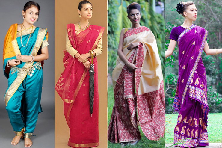 Image result for different types of saree draping
