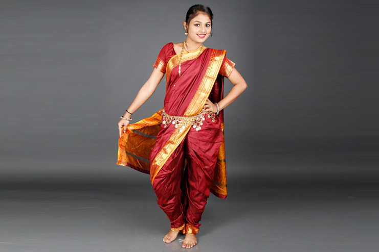 Nauvari Saree From Maharashtra