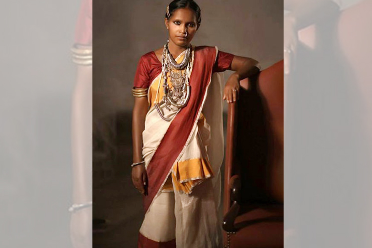 Santhal Drape From Jharkhand