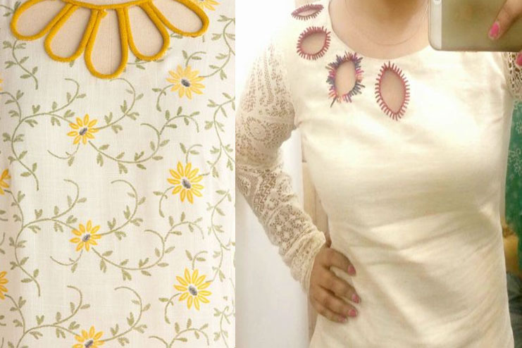 embroidery for solid dresses