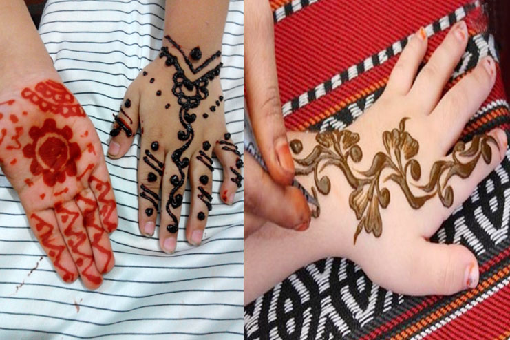 Henna designs for Babies