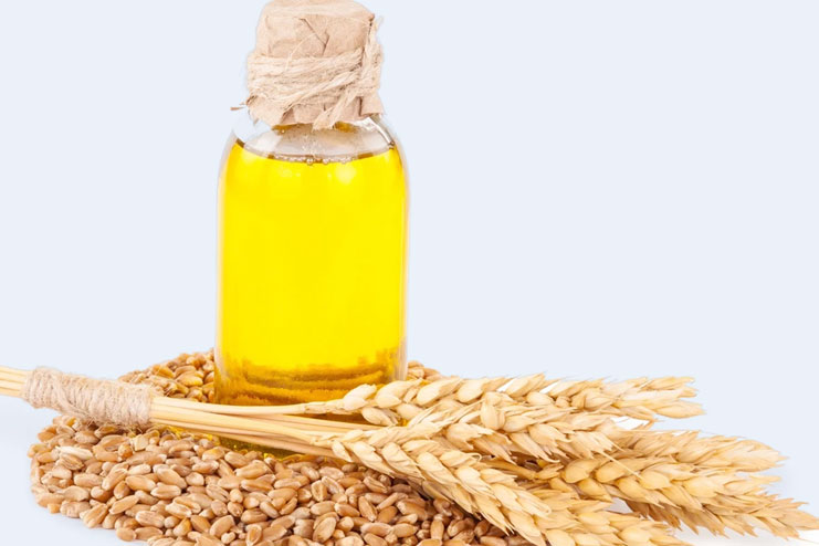 Apply wheat germ Oil