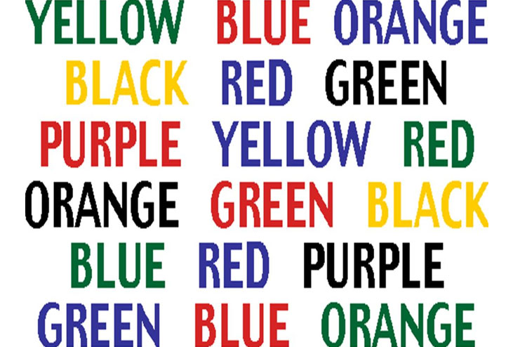 Say colour not word game