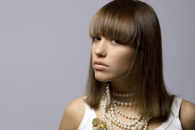 Cleopatra fringes feather cut