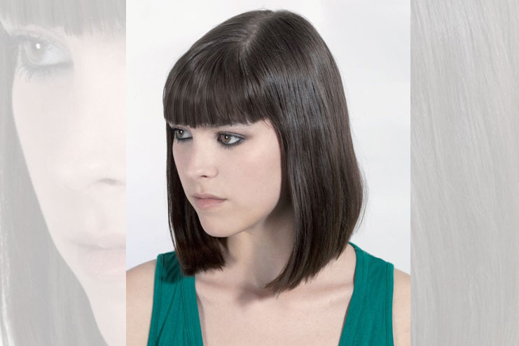 The pageboy look feathered cut