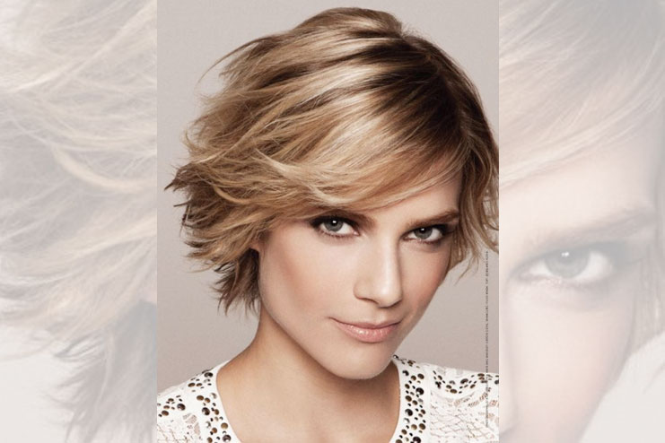Short feather cut bob hairstyle