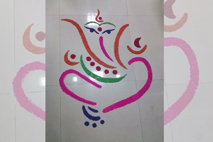 Another simple Rangoli design