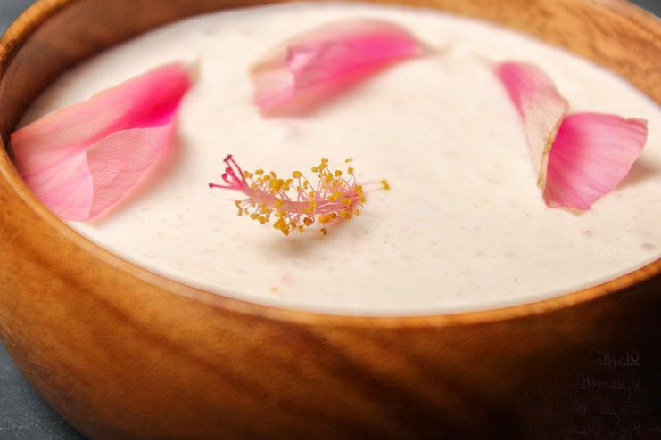 Coconut milk and hibiscus