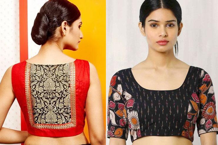 Kalamkari Yoke blouse